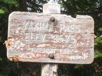PCT hike - yakima pass sign
